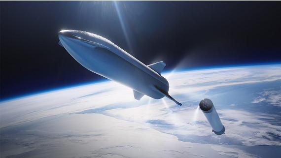 SpaceX представила прототип ракеты для полетов на Луну и Марс