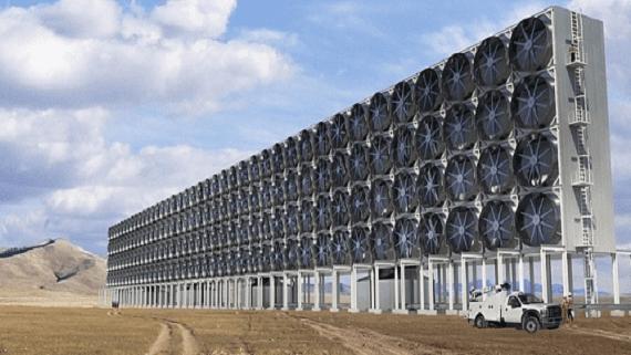 Заводи з викачування вуглекислого газу з атмосфери