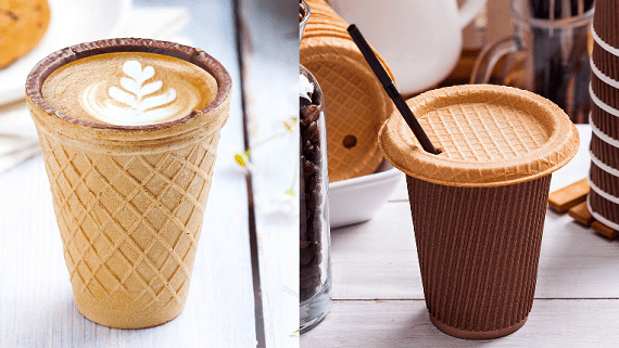 В Україні почалося виробництво вафельних стаканчиків для напоїв