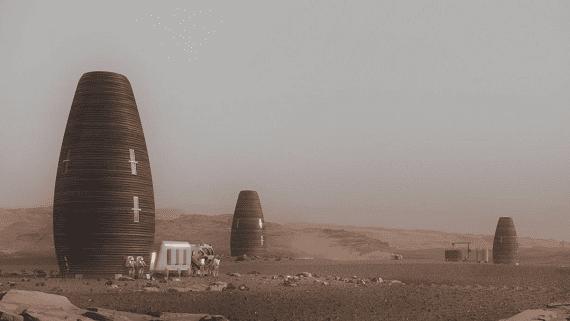 Проект домов для жизни на Марсе или Луне