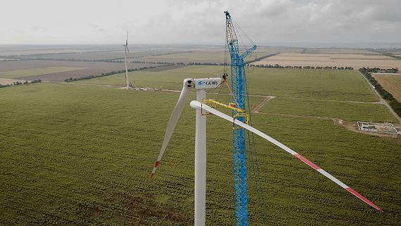 В Одеській області будується перша вітрова електростанція