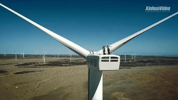 В Китае планируют запустить ветровую турбину с размахом лопастей 210 метров