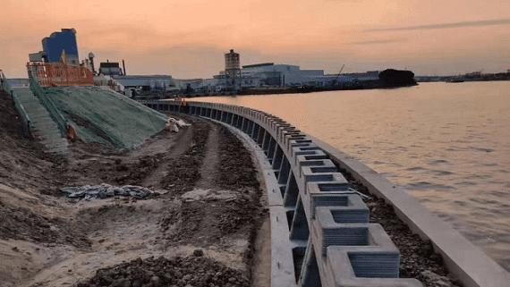 В Китае построили 500 метровую подпорную стену с помощью 3D печати