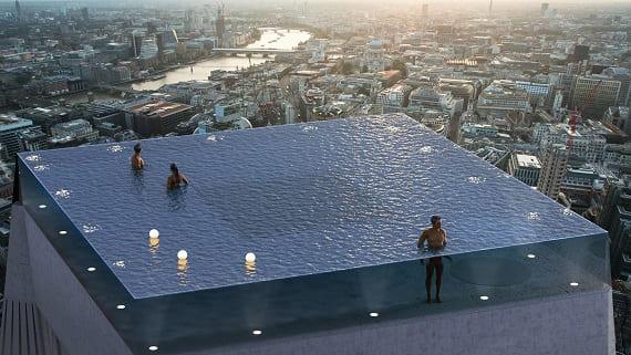 В Лондоне планируют построить небоскреб с панорамным бассейном на крыше