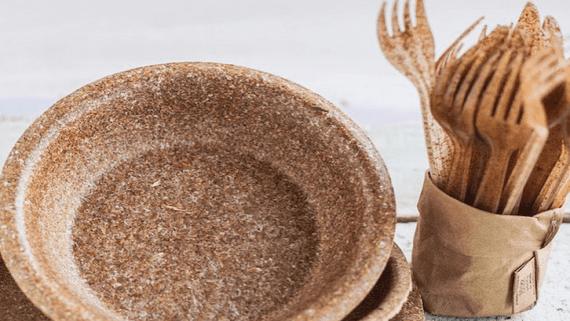 Одноразовий посуд із висівок
