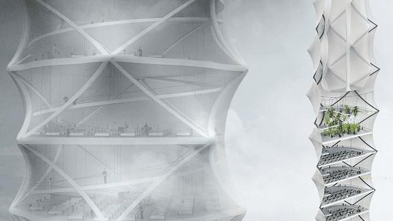Складной небоскреб быстрого монтажа