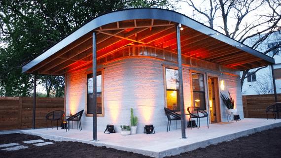 Дома, напечатанные с помощью 3D технологий