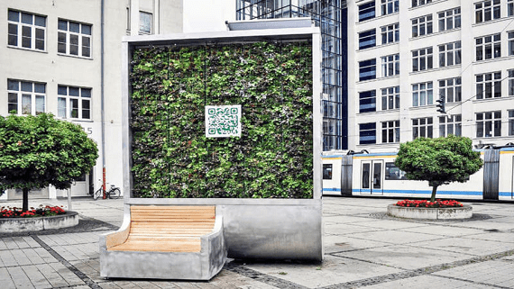 CityTree - необычный уличный очиститель для воздуха
