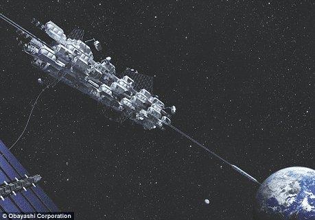 Япония проведет испытания первого в мире космического лифта