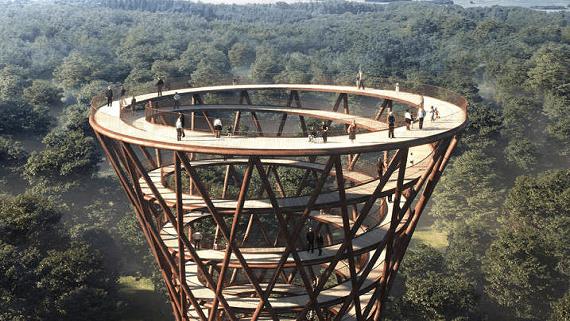 Деревянная башня в Дании