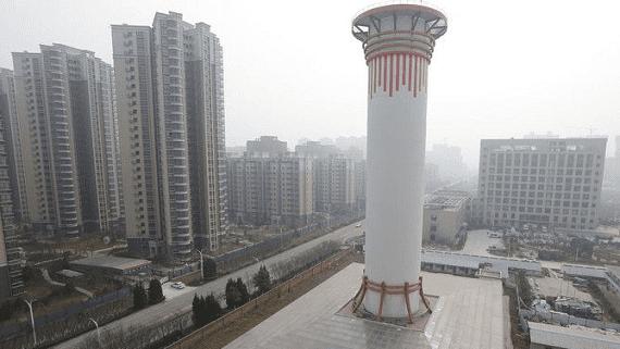 В Китае запустили огромный очиститель для воздуха